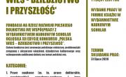 plakat konkursu Polska wiś - dziedzictwo i przyszłóść